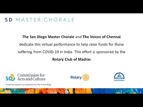 San Diego Master Chorale and Voices of Chennai harmonize in benefit for Madras Rotary Covid support